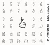 carafe for cognac dusk icon.... | Shutterstock .eps vector #1303326376