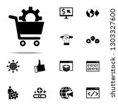 solutions for e commerce icon.... | Shutterstock .eps vector #1303327600