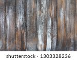old wooden planks covered with... | Shutterstock . vector #1303328236