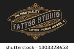 tattoo logo template. old... | Shutterstock .eps vector #1303328653