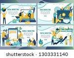 web page design templates for... | Shutterstock .eps vector #1303331140