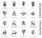 yoga fitness and meditation... | Shutterstock .eps vector #1303332310