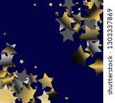 diagonal border from confetti... | Shutterstock .eps vector #1303337869