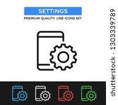 vector settings icon. mobile... | Shutterstock .eps vector #1303339789