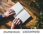 wood floor and book | Shutterstock . vector #1303349650