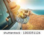 happiness young woman traveler...   Shutterstock . vector #1303351126