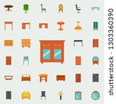 chest of drawers flat icon.... | Shutterstock .eps vector #1303360390