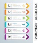infographics tab in horizontal... | Shutterstock .eps vector #1303361566