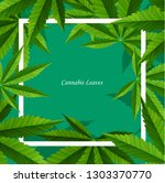 marijuana concept and cannabis... | Shutterstock .eps vector #1303370770