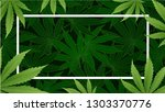 marijuana concept and cannabis...   Shutterstock .eps vector #1303370776