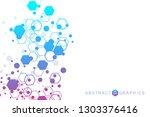 modern futuristic background of ... | Shutterstock .eps vector #1303376416