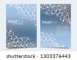 scientific brochure design... | Shutterstock .eps vector #1303376443