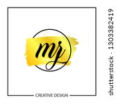 initial mz letter logo template ...   Shutterstock .eps vector #1303382419