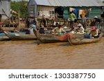 kompong kleang  cambodia   feb...   Shutterstock . vector #1303387750