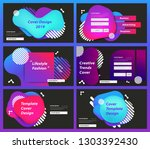 set of web page design... | Shutterstock .eps vector #1303392430