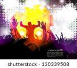 crowd of people. concert... | Shutterstock .eps vector #130339508