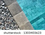 view from above at a swimming... | Shutterstock . vector #1303403623