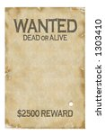 old wanted poster   insert your ... | Shutterstock . vector #1303410
