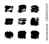 set with hand drawn textures.... | Shutterstock .eps vector #1303412119