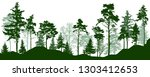 forest silhouette green trees.... | Shutterstock .eps vector #1303412653
