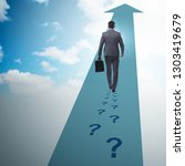businessman walking away on... | Shutterstock . vector #1303419679