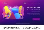 students at workshop practicing ... | Shutterstock .eps vector #1303423243