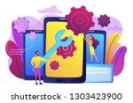 service technicians with big...   Shutterstock .eps vector #1303423900