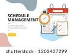 schedule management flat design ...   Shutterstock .eps vector #1303427299