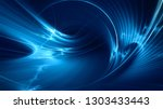 abstract blue on black... | Shutterstock . vector #1303433443