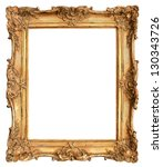Antique golden frame isolated...