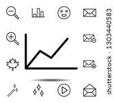 chart icon. simple thin line ...