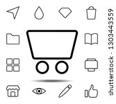 trolley icon. simple thin line  ...
