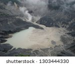 the view of the volcano is... | Shutterstock . vector #1303444330