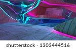 abstract  concrete futuristic...   Shutterstock . vector #1303444516