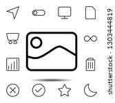 picture icon. simple thin line  ...