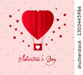 valentines day  background with ... | Shutterstock .eps vector #1303445986