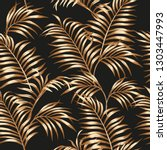 tropical palm leaves of gold... | Shutterstock .eps vector #1303447993