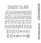 font set of letters and symbols.... | Shutterstock .eps vector #1303448056