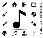 note  overtone icon. simple...