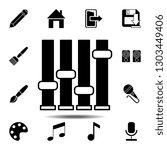 mixer icon. simple glyph...