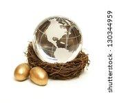 the world rests in the nurture... | Shutterstock . vector #130344959