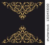 gold ornament baroque style.... | Shutterstock .eps vector #1303453030