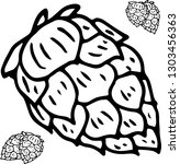 hop monochrome. doodle | Shutterstock .eps vector #1303456363