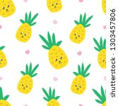 childish seamless pattern with... | Shutterstock .eps vector #1303457806