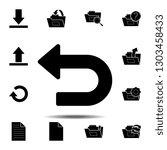 undo  arrow back icon. simple...