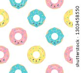 childish seamless pattern with... | Shutterstock .eps vector #1303458550