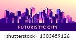 vector illustration  night city ...   Shutterstock .eps vector #1303459126