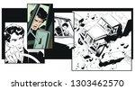 stock illustration. truck... | Shutterstock .eps vector #1303462570