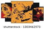 stock illustration. truck... | Shutterstock .eps vector #1303462573
