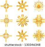 set of gold star symbols   Shutterstock .eps vector #130346348